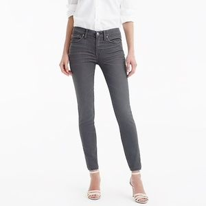 J. Crew Toothpick Stretch Cropped Skinny Jeans